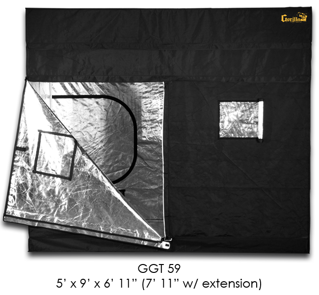 GORILLA GROW TENT 5'X9′ with Height Extension Kit (Used for 9 Weeks) In Box CLEAN !!!
